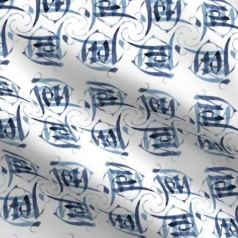 "Calligraphic pattern using the word ""Joy"""
